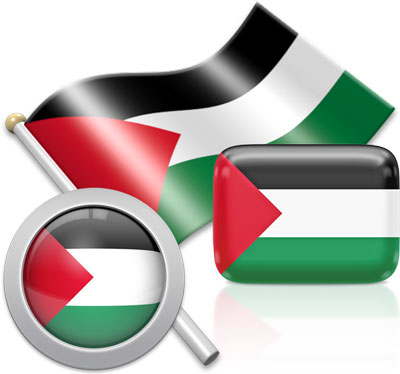 Palestinian flag icons pictures collection