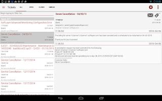 Screenshot of SoftLayer Mobile