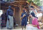 A little jamming for the chief. Dogon village, Mali, West Africa.