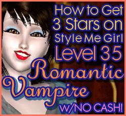 Style Me Girl Level 35  - Romantic Vampire - Elisia - Stunning! Three Stars