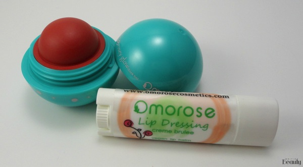 Omorose Cosmetics Review Lip Dressing in Creme Brulee and Rosey Glow in Showbiz