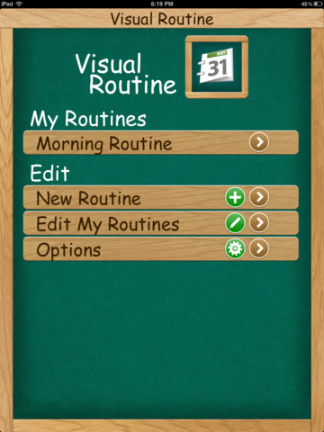 Visual Routine Main Page
