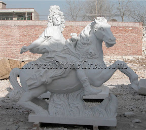 Figure, Horse, Interior, Marble, Statues