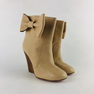 Valentino RED Cream Wedge Boots