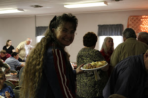 Our close friend and supporter of Ecuador Missions, Rusta, enjoying the good food at Maurepas.