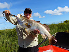 A happy angler on the airboat at Carmor Plains, go Jenny!