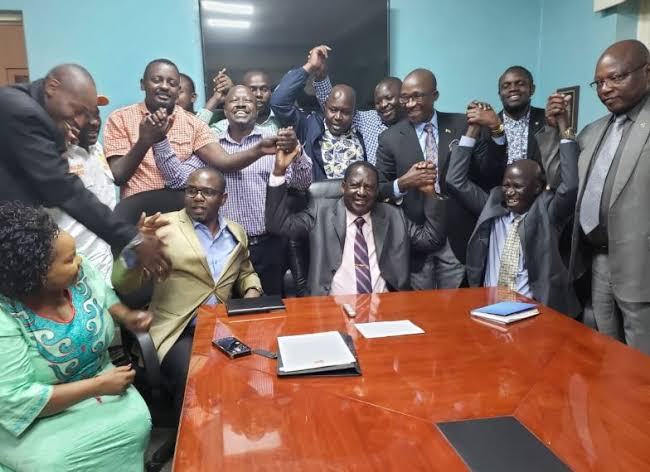 Kibra ODM candidates before the nominations