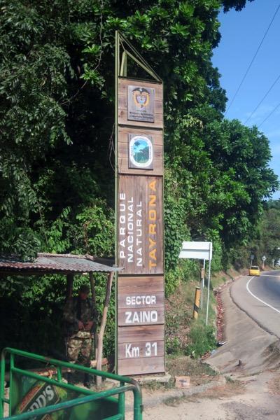 Tayrona Entrance