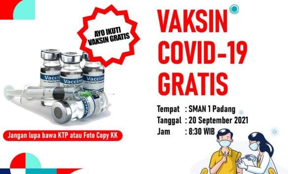 Sinergi Dimasa Pandemi, Alumni SMA 1 Bukittinggi Adakan Bhakti Sosial Vaksin Covid-19  Gratis di SMA 1 Padang