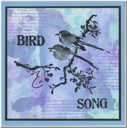 BIRDSONG SILHOUETTE SCAN