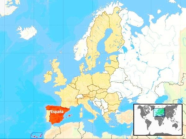 ¿Dónde queda España? Mapa de ubicación de España