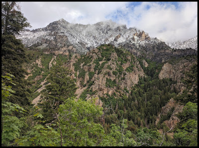 Views of the North Side of American Fork Canyon on hike up to Timp Cave