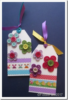 Button Brooch Gift Tag Easter Crafts