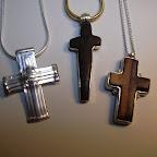 Anhänger Silber Kreuze individuell Ebenholz.JPG