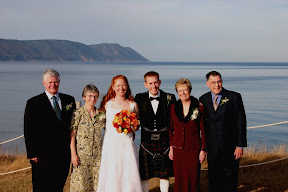 The bride and groom and their parents