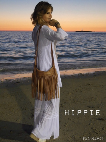 Estilo con flecos hippie