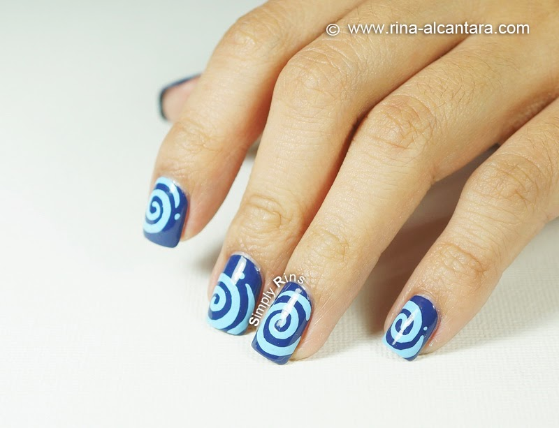 Round and Round Nail Art Design - Right Hand