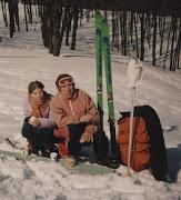 На горе с внучкой Ирой