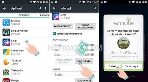 Entah apa tujuannya Anda ingin mengganti akun di aplikasi smule Cara Mengganti Akun Smule di Android