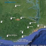 Ghana : sites visités en 2013