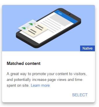 Create AdSense Matched Content Unit