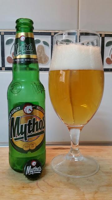 cerveza Mythos Beer cervezame en los labios