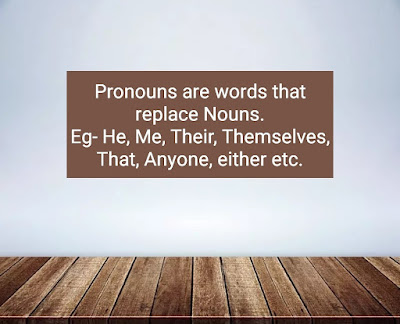 Definition of Pronoun with examples