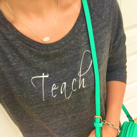 teach, teacher style, swell stated, kendra scott, preppy style