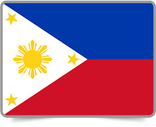 Philippine framed flag icons with box shadow