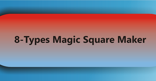 Different view on Magic Square
