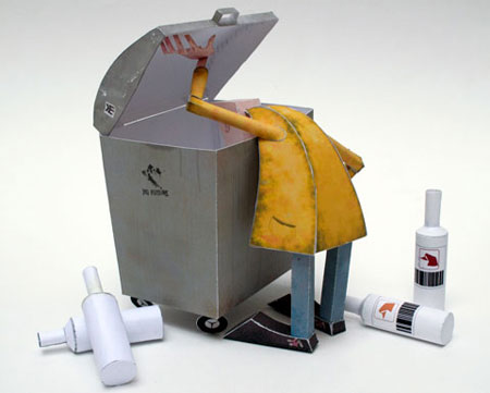 Bottleman Papercraft