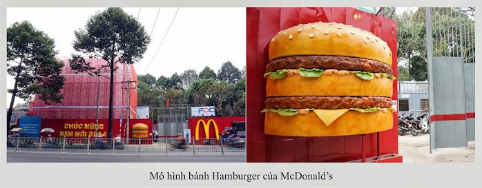 mô hình bánh hamburger của Mcdonald