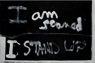 I am Scared, I stand up in Colin McCahon's handwriting
