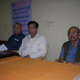 1. L to R Srikishanlal Sarma, EC member FMC, K Nageswra Rao convener and M Ranaga Reddy, Chairman Organising committee & Chairman HSC FMC