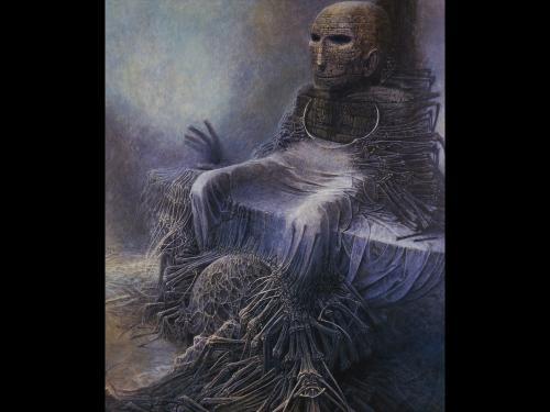 Zdzislaw Beksinski Bones, Death