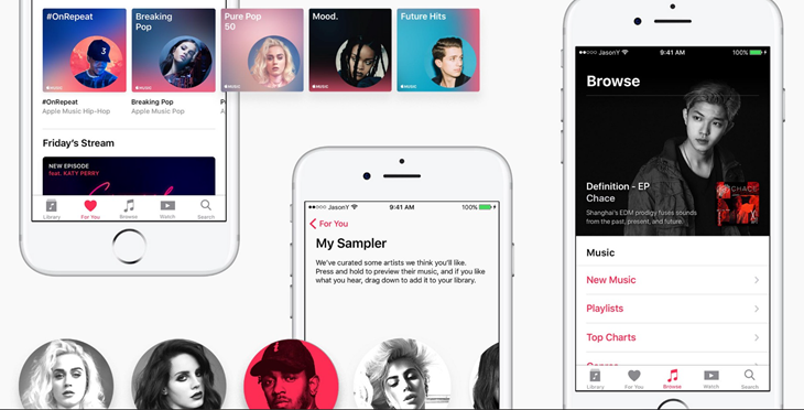 Concepto de rediseño de Apple Music