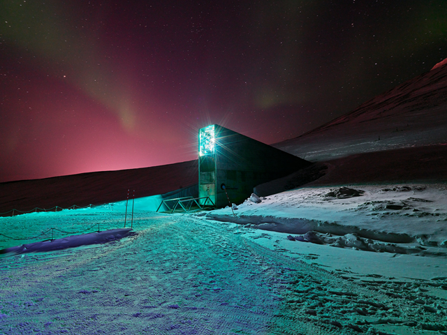 Svalbard Global Seed Vault, Spitsbergen Island, Norway. Photo: Spencer Lowell / The New York Times