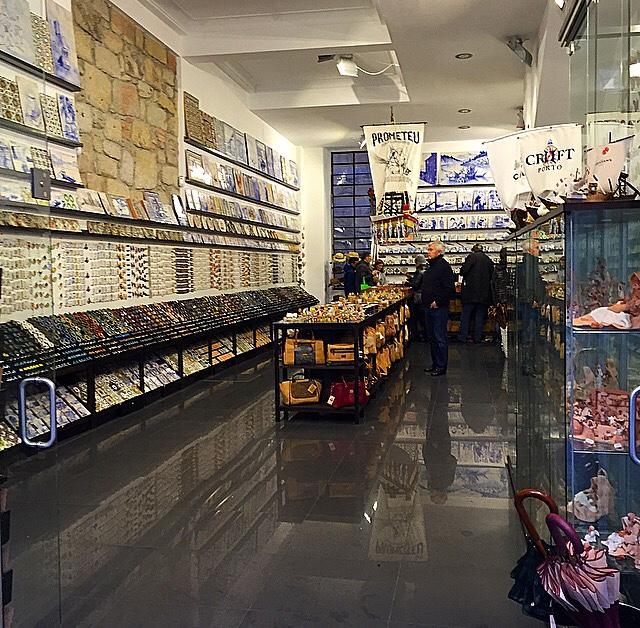 As lojas de artesanato