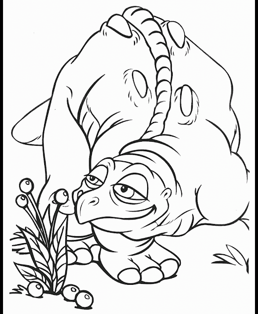 Littlefoot Colouring Page
