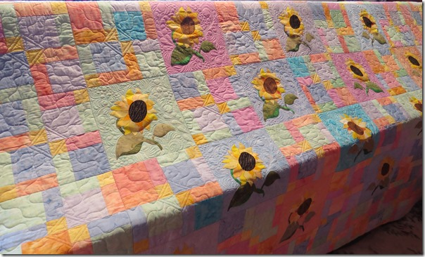Sallys sunflowers on frame