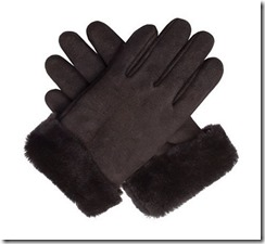 Dents chocolate brown sheepskin gloves