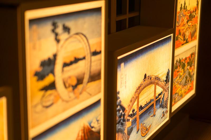 目黒雅叙園 和のあかり百段階段 葛飾北斎 写真