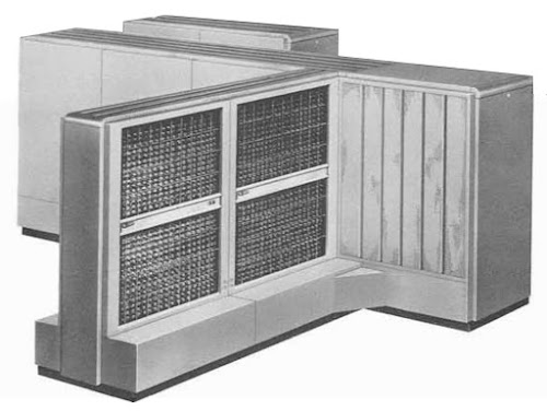 The CPU of an IBM 705. From IBM 705 Electronic Data Processing Machine brochure.