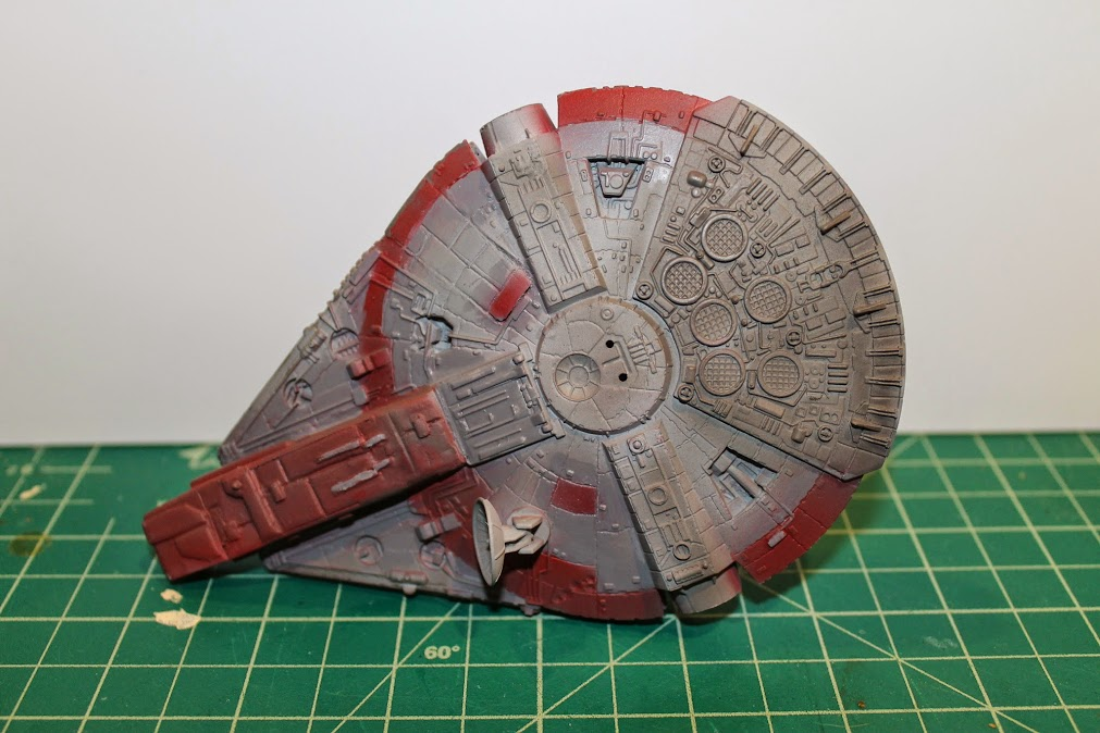 Top of YT-1300, after airbrushing