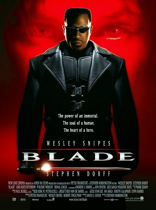 Poster Of Blade (1998) Full Movie Hindi Dubbed Free Download Watch Online At Alldownloads4u.Com