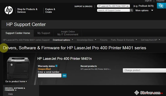 download HP LaserJet Pro 400/M401dw Printer driver 1