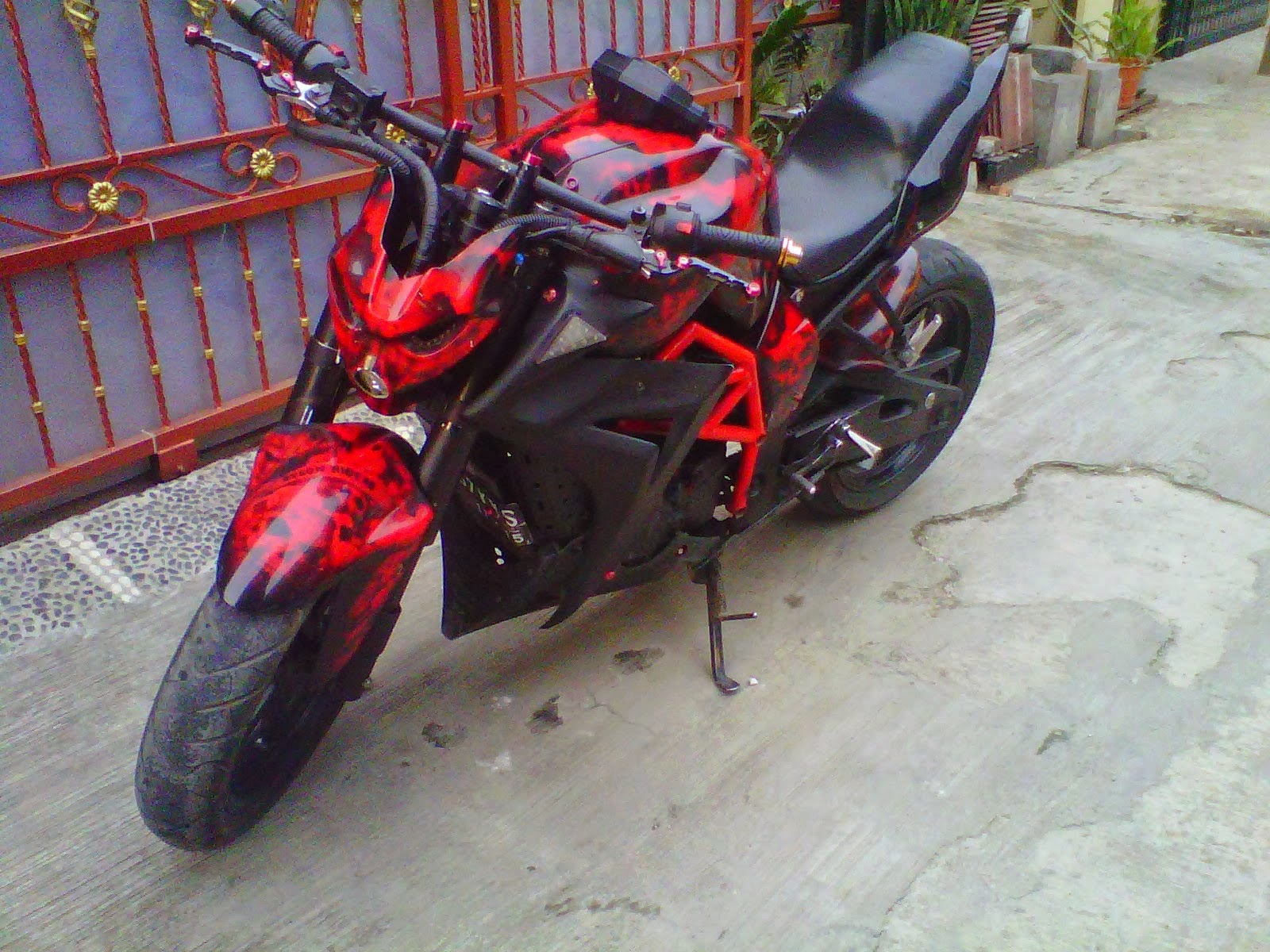 Foto Modifikasi Yamaha Byson Street Fighter