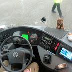 het dashboard van bus 17 van Besseling