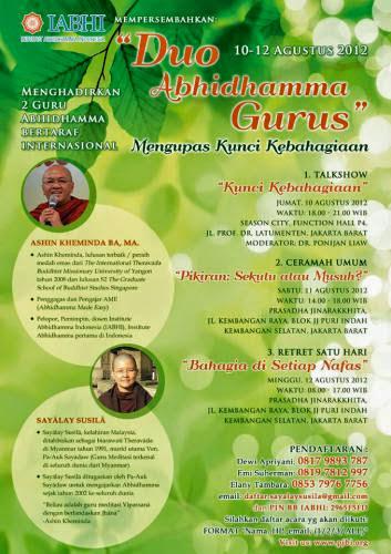 Key To Happiness By Duo Abhidhamma Gurus