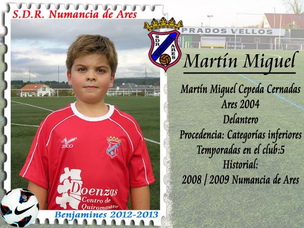 ADR Numancia de Ares. Martín Miguel.